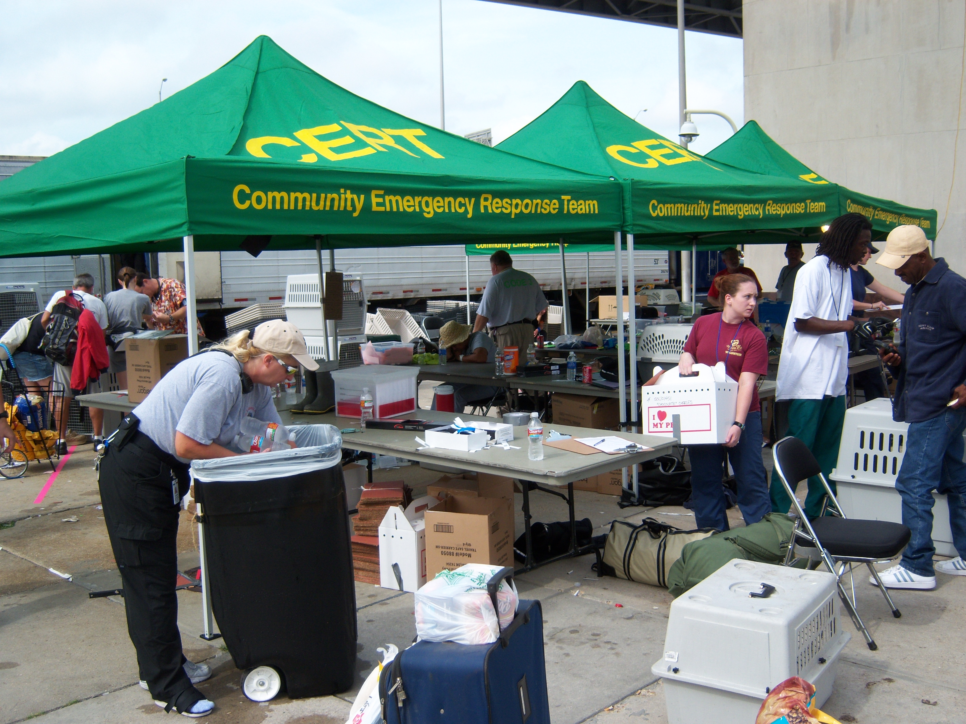 CERT Volunteers in New Orleans for Hurricane Gustav 2008